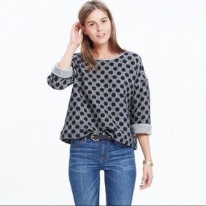 Madewell | Reversible Marled Dot Sweater